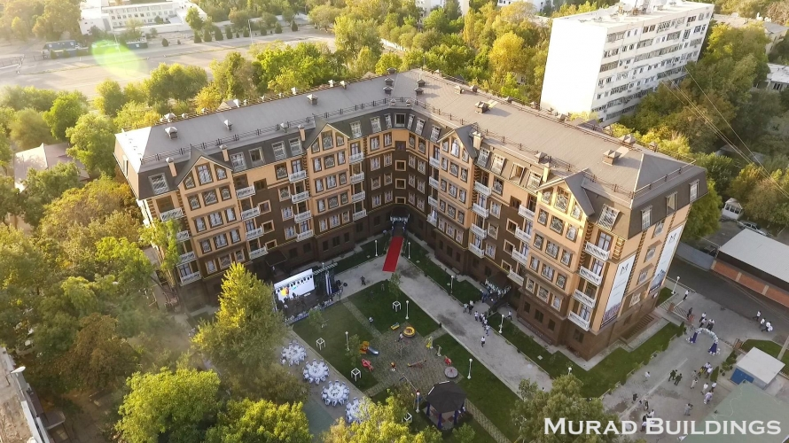Amir Temur residential complex. The project of the facade of the building